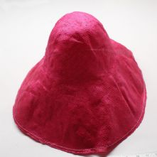 Large Fuchsia Pink Stiffened Ramie Straw Milliner's Capeline